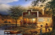 Summer time Terry Redlin 野外写生绘画壁纸 美国画家Terry Redlin 绘画壁纸 绘画壁纸