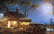 Autumn Traditions Terry Redlin 野外写生油画壁纸 美国画家Terry Redlin 绘画壁纸 绘画壁纸