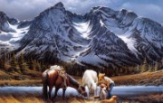 Purple Mountain Majesties Terry Redlin 野外写生油画壁纸 美国画家Terry Redlin 绘画壁纸 绘画壁纸