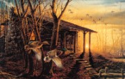 Morning Retreat Terry Redlin 野外写生绘画壁纸 美国画家Terry Redlin 绘画壁纸 绘画壁纸