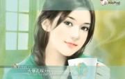 美女手绘壁纸八台湾言情小说封面 绘画壁纸