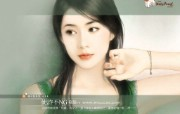美女手绘壁纸二台湾言情小说封面 绘画壁纸