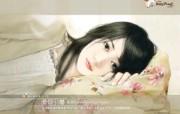 美女手绘壁纸六台湾言情小说封面 绘画壁纸