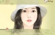 美女手绘壁纸七台湾言情小说封面 绘画壁纸