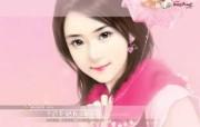 美女手绘壁纸五台湾言情小说封面 绘画壁纸