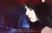 美女手绘壁纸一台湾言情小说封面 绘画壁纸