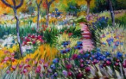 印象派画家 壁纸 莫奈绘画作品 The Iris Garden at Giverny 1600 1200 莫奈 Claude Monet 绘画作品 绘画壁纸
