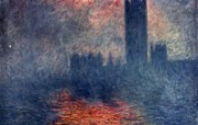 印象派画家 壁纸 Claude Monet Painting Houses of Parliament Sunset 1600 1200 莫奈 Claude Monet 绘画作品 绘画壁纸