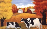 奶牛农场Lowell Herrero绘画 绘画壁纸