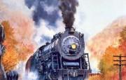 欧美手绘火车壁纸Howard Fogg 火车之旅 绘画壁纸