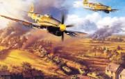欧美手绘战斗机壁纸空战绘画桌面三 绘画壁纸