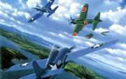 欧美手绘战机壁纸空战绘画壁纸一 绘画壁纸