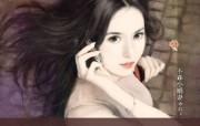 共670张 言情小说美女手绘插画 清纯手绘美女插画壁纸 第十八辑 绘画壁纸