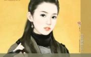 共670张 言情小说纯美女主角手绘插图 清纯手绘美女插画壁纸 第十八辑 绘画壁纸