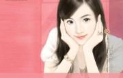 共670张 爱情小说纯美女主角手绘壁纸 清纯手绘美女插画壁纸 第十八辑 绘画壁纸