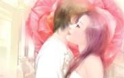 情人节甜蜜情侣插画 壁纸18 情人节甜蜜情侣插画 绘画壁纸