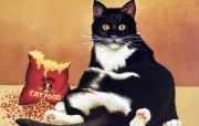 趣味猫咪绘画壁纸 Lowell Herrero作品 绘画壁纸