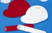 棒球帽 日本风情手工布艺贴画图片 日本风情手工布艺画秋冬篇 绘画壁纸