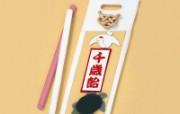布艺贴画 日本风情手工布艺贴画图片 日本风情手工布艺画秋冬篇 绘画壁纸