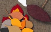 秋季 日本风情手工布艺贴画图片 日本风情手工布艺画秋冬篇 绘画壁纸