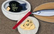 秋季 日本手工布艺贴画图片 日本风情手工布艺画秋冬篇 绘画壁纸
