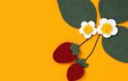 日本风情手工布艺画 春夏篇 草莓 精美手工布艺贴画图片 日本风情手工布艺贴画春夏篇 绘画壁纸