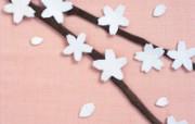 日本风情手工布艺画 春夏篇 樱花 日本风情手工布艺画图片 日本风情手工布艺贴画春夏篇 绘画壁纸