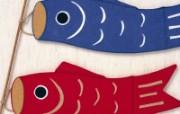 日本风情手工布艺画 春夏篇 鲤鱼旗 日本风情手工布艺贴画图片 日本风情手工布艺贴画春夏篇 绘画壁纸