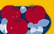 日本风情手工布艺画 春夏篇 番茄 日本风情手工布艺贴画图片 日本风情手工布艺贴画春夏篇 绘画壁纸