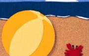 日本风情手工布艺画 春夏篇 海滩 日本风情手工布艺画图片 日本风情手工布艺贴画春夏篇 绘画壁纸