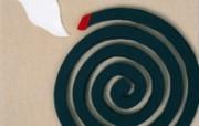 日本风情手工布艺画 春夏篇 夏日蚊香 日本手工布艺贴画图片 日本风情手工布艺贴画春夏篇 绘画壁纸