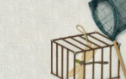 日本风情手工布艺画 春夏篇 夏季主题 日本风情手工布艺画图片 日本风情手工布艺贴画春夏篇 绘画壁纸
