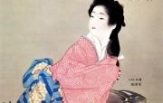 日本绘画壁纸上春松园仕女图 绘画壁纸