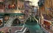 Venice Romance Robert Finale 浪漫威尼斯油画 Robert Finale 浪漫写意油画作品 绘画壁纸