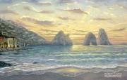 A new dawn Robert Finale 温馨风景油画壁纸 Robert Finale 浪漫写意油画作品 绘画壁纸
