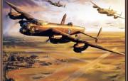 手绘二战飞机 绘画壁纸