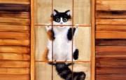 手绘猫咪 绘画壁纸