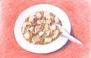 手绘美食壁纸食物彩色铅笔画桌面二 绘画壁纸