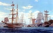 手绘帆船 绘画壁纸