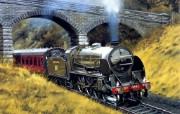 手绘系列 - 火车 绘画壁纸