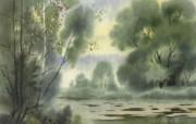 水彩风景壁纸 壁纸14 水彩风景壁纸 绘画壁纸