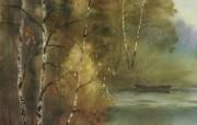 水彩风景壁纸 壁纸15 水彩风景壁纸 绘画壁纸