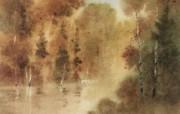 水彩风景壁纸 壁纸22 水彩风景壁纸 绘画壁纸