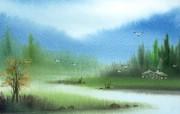 水彩画壁纸梦幻意境 绘画壁纸