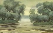 水彩景色 2 14 水彩景色 绘画壁纸