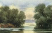 水彩景色 2 13 水彩景色 绘画壁纸