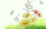 水墨花卉 壁纸6 水墨花卉 绘画壁纸