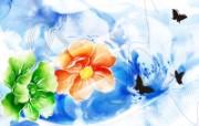 水墨花卉 壁纸16 水墨花卉 绘画壁纸