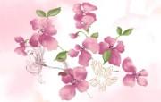 水墨花卉 壁纸17 水墨花卉 绘画壁纸
