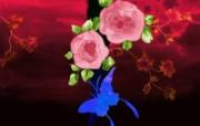 水墨花卉 壁纸21 水墨花卉 绘画壁纸